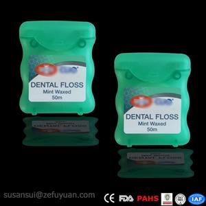 50M Nylon Mint Waxed Dental Floss