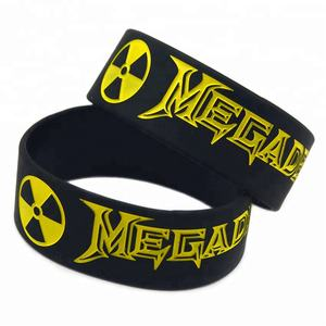 25 Pcs 1 Pollici Wide Heavy Metal Stile Rock Band Megadeth Wristband Del Silicone