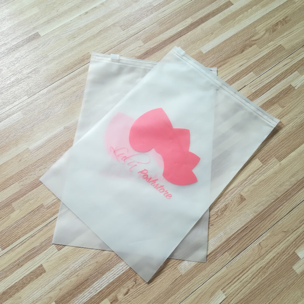 Custom Opp Pvc Zipper Packing Clothing Bag With Your logo,Custom zip lock frosted packing clothing bag logo
