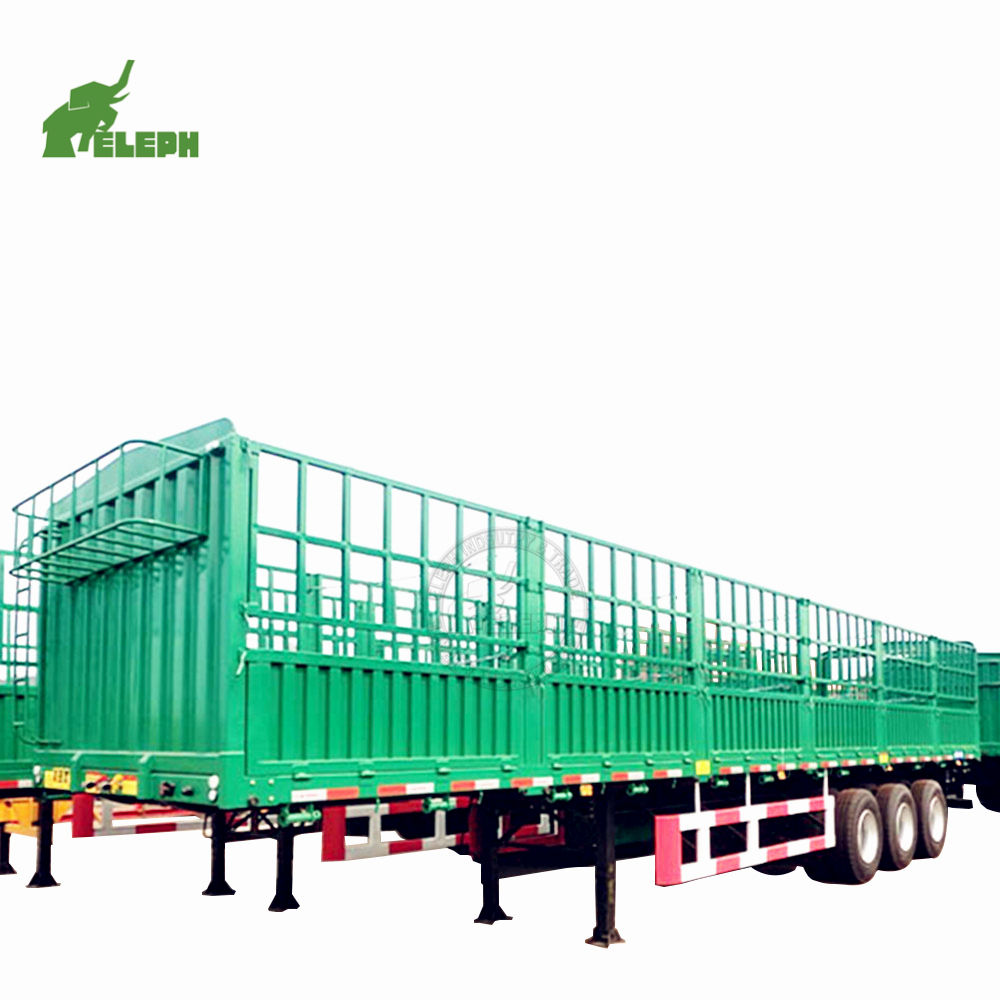 3 Axle 40ton Livestock transport Series Horse Fence Stake Semi Trailer