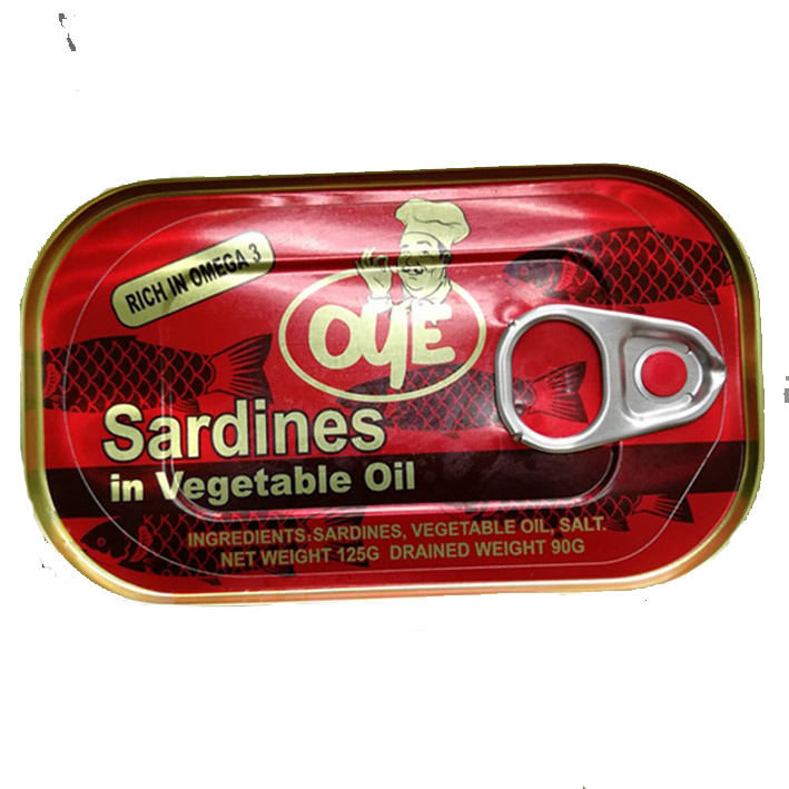 In scatola sardine in <span class=keywords><strong>olio</strong></span> vegetale <span class=keywords><strong>pesce</strong></span> nome scientifico 125gX50tins