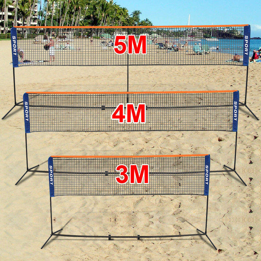Badminton Net Foldable Portable 3/4/5M Badminton And Volleyball Tennis Nets