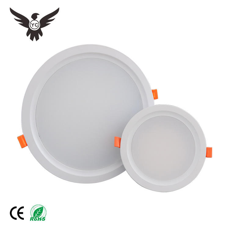 Good Quality China High Lumen Aluminum Case 7W 12W 15W 18W 24W Ceiling Down Light 8 Inch Led Retrofit Recessed Downlight
