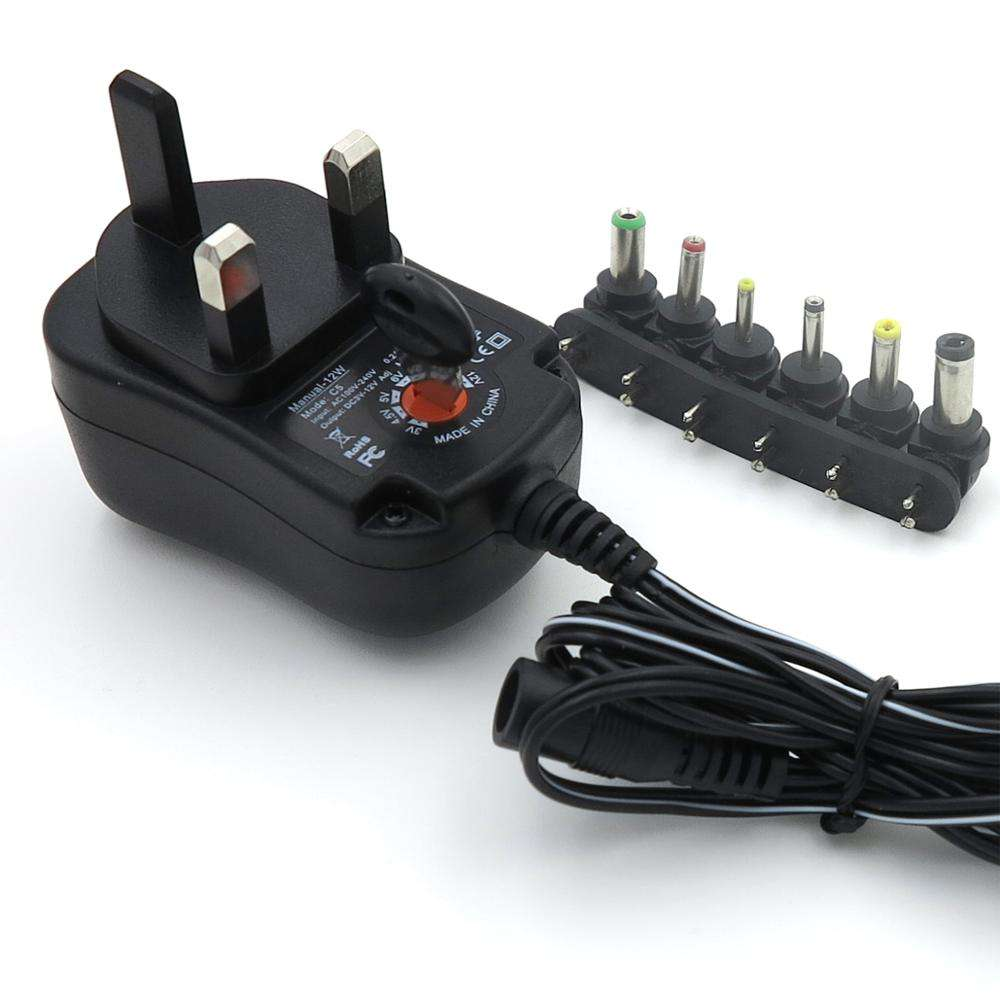 Multi-interfaces interchangeable plug AC DC power adapter for air purifiers