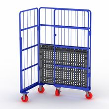 Custom quality storage cage steel mesh roll container  for warehouse
