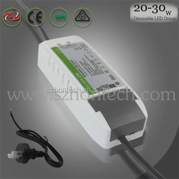 Regulable conductor llevado actual constante 30 w 500ma, triac dimmable led driver
