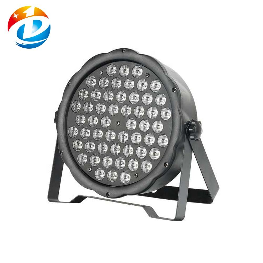 Stage Decoration Disco Lights RGBW 54 1W Led Flat Par Light For DJ Party