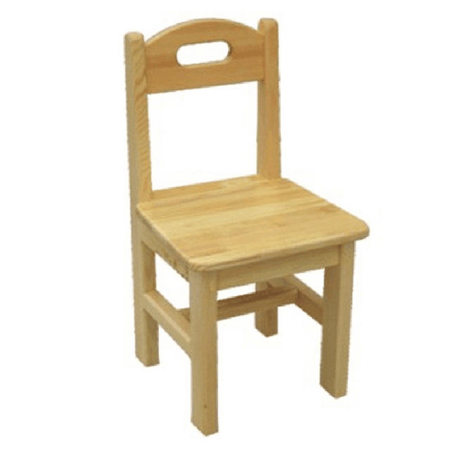 Full Wood Kids Chair Pine Wood Children Chair