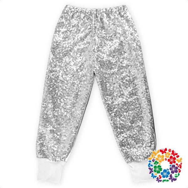 2019 Newest Silver Sequin Toddler Pants Baby Girls Sweat Long Pants Wholesale Children Legging Pants