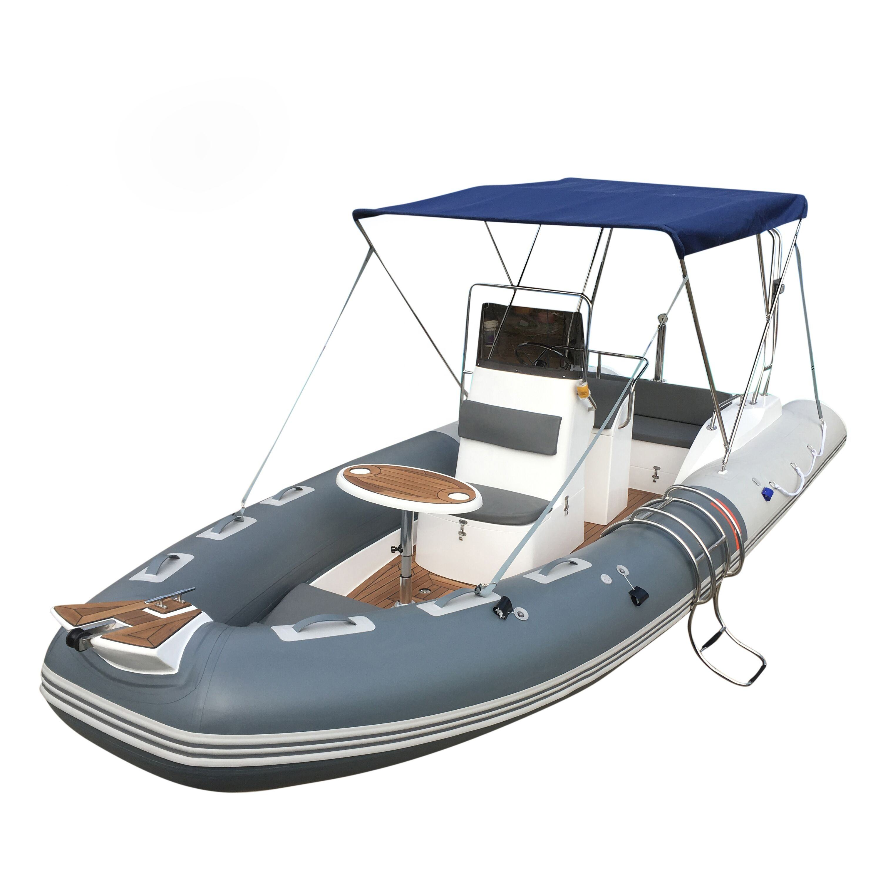 RIB580B Goethe Factory Direct Sale 8 people Center Console Inflatable Fiberglass Boat Dinghy