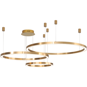 Golden Rings Chandelier lighting Decorative Acrylic Modern Pendant Light