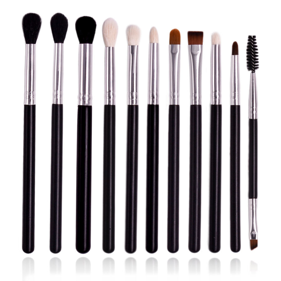Private Label 11 Piece Synthetic Hair Eyeshadow Makeup Brushes Mascara Lip Eye Makeup Brush Set