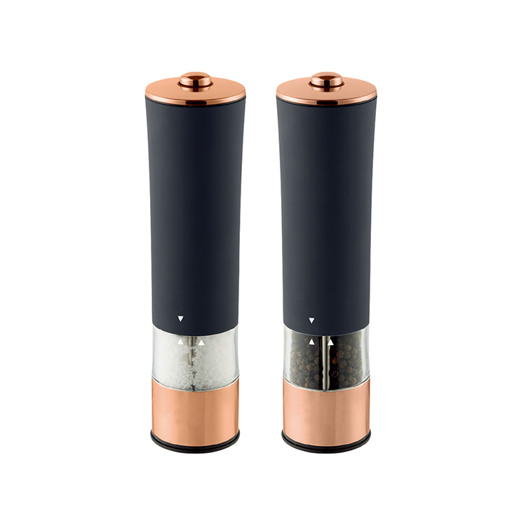 2019 New Design Stainless Steel Electric Salt and Pepper Grinder Set