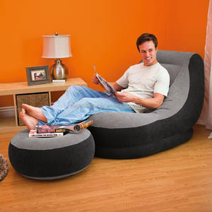 factory wholesale INTEX 68564 good quality soft lazy confortable luxury indoor inflatable sofa set inflatable chair