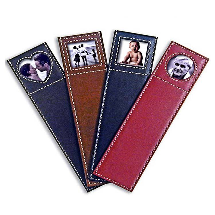 Hot selling promotional photo frame leather bookmark