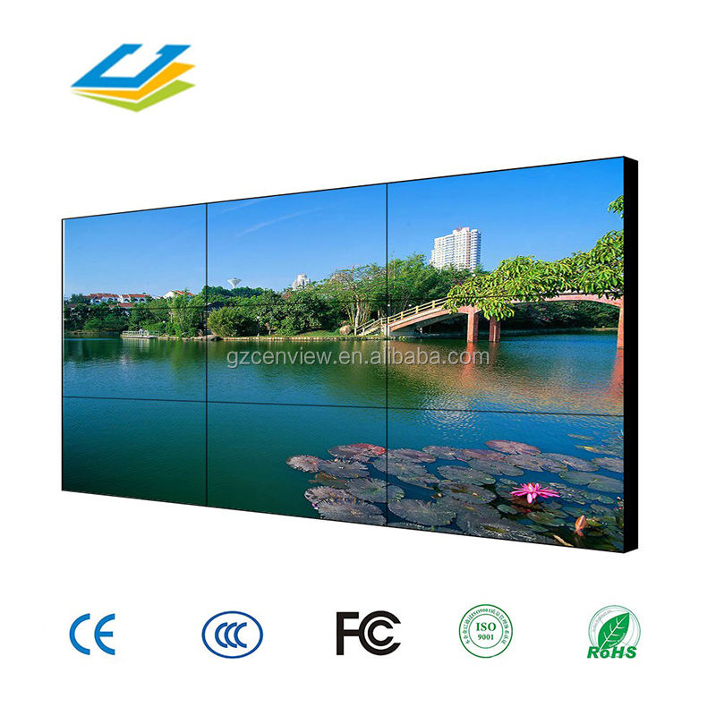 55 นิ้ว led tv แคบ seamless bezel 1*4 lcd digital signage player วิดีโอ