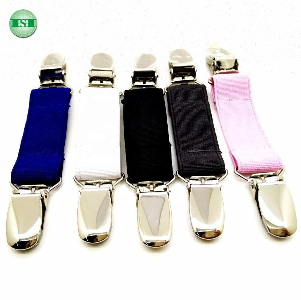 Stainless steel suspender clips braces clips mitten clips sew with elastic strap