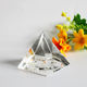 Best popular religious gifts crystal paperweight type 3D laser engraved crystal glass pyramid