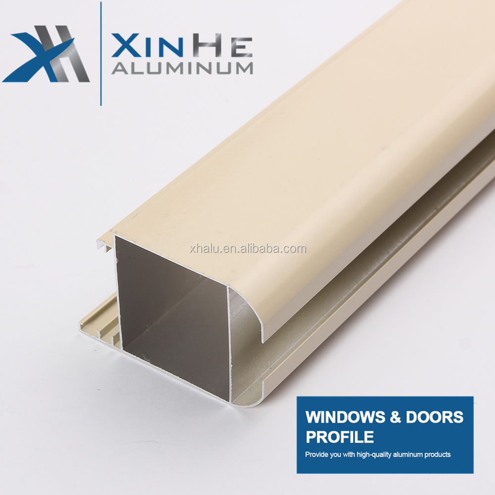 China Factory Price Commercial Extruded Aluminum Profile Grain Wardrobe Sliding Patio Glass Decorative Door And Window Frame
