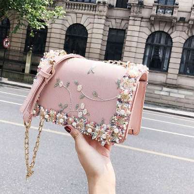 9F005 Wholesale small square flower shoulder handbags for women shoulder bag