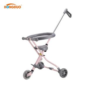 Cheap folding trike small baby trolley stroller with light wheel