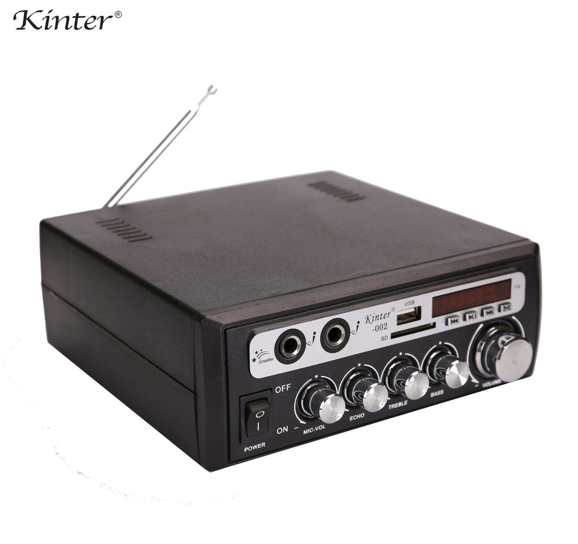 Kinter-002 2ch Power Audio Home Versterker Met Usb Sd Fm Mic