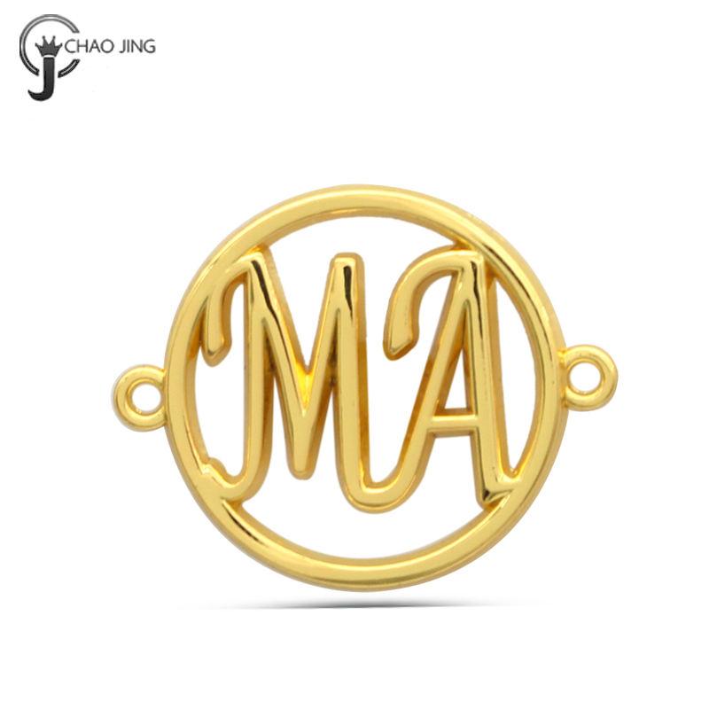 Custom metal logo garment tags hollow clothing labels
