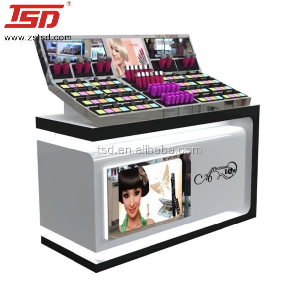 TSD-W1198 Factory hot koop cosmetische display showcase, winkelcentrum display kiosk, mall cosmetische kiosk