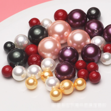 8-12-14mm perfect round 1/2 half drilled shell pearl beads loose pearl beads