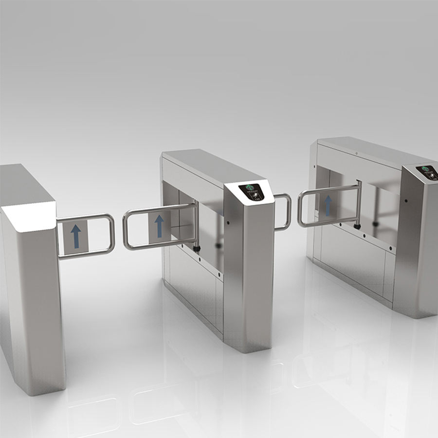 Swipe Card Automatic Access Control Turnstile Swing Barrier Gate For Supermarket Entrance
