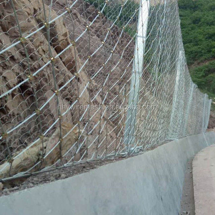 Against the Natural disasters Rock fence rockfall rock barrier fence