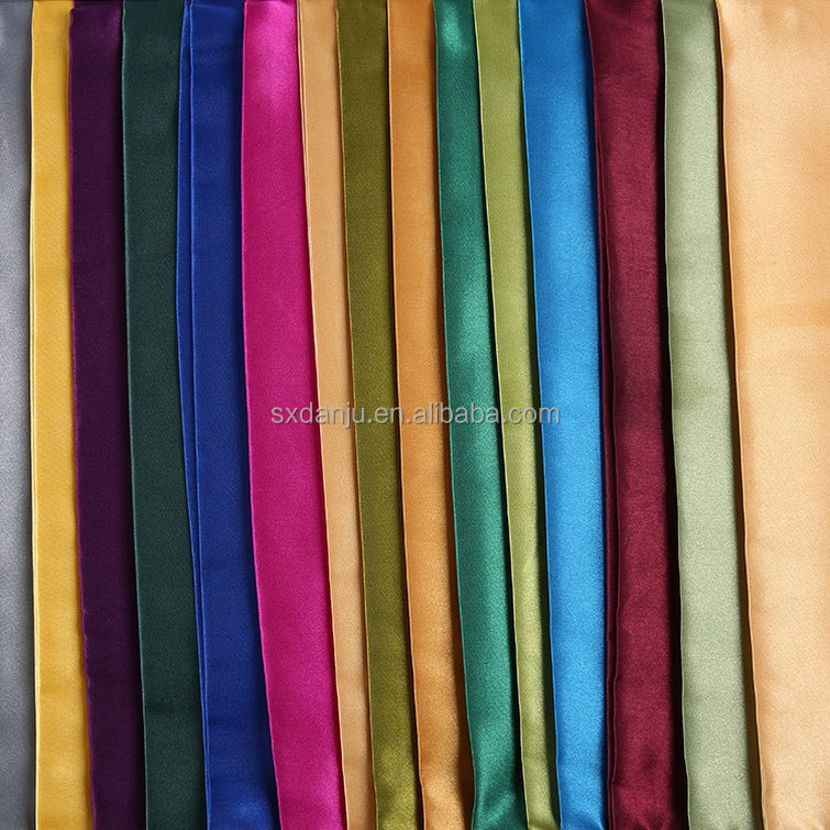 China factory dress 100% polyester non twist satin woven fabric parallel plain fabric satin