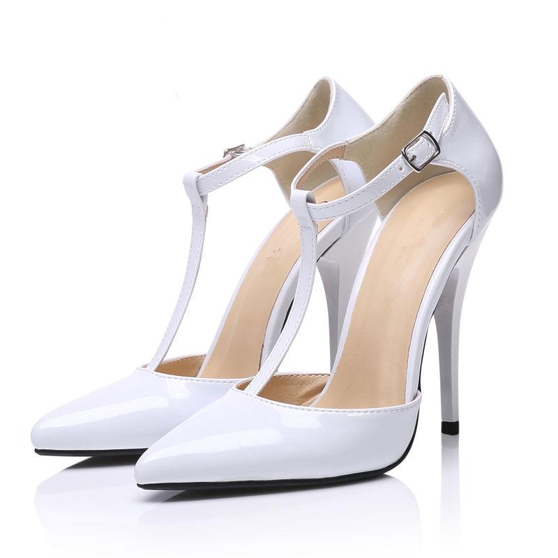 High quality women's shoes white color wedding dress shoes dongguan fashion lady shoe