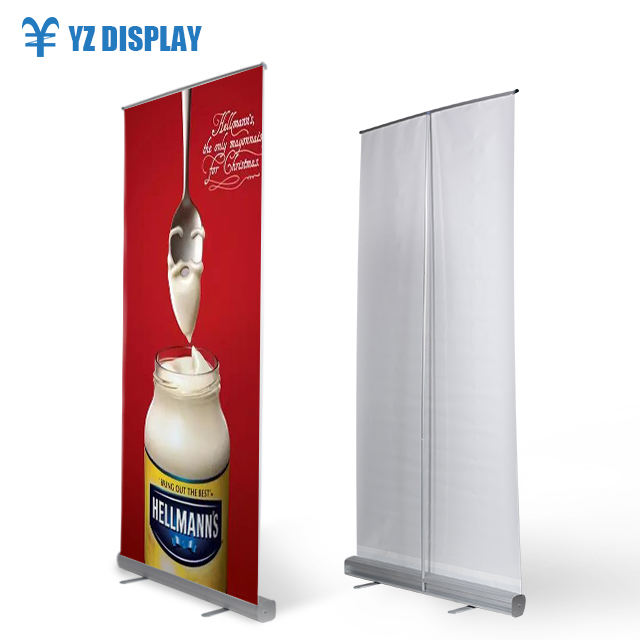 Transparency Film Chrome Cover Roll Up Stand Flex Sample Design Advertising Supermarket Outdoor Rollup Banner