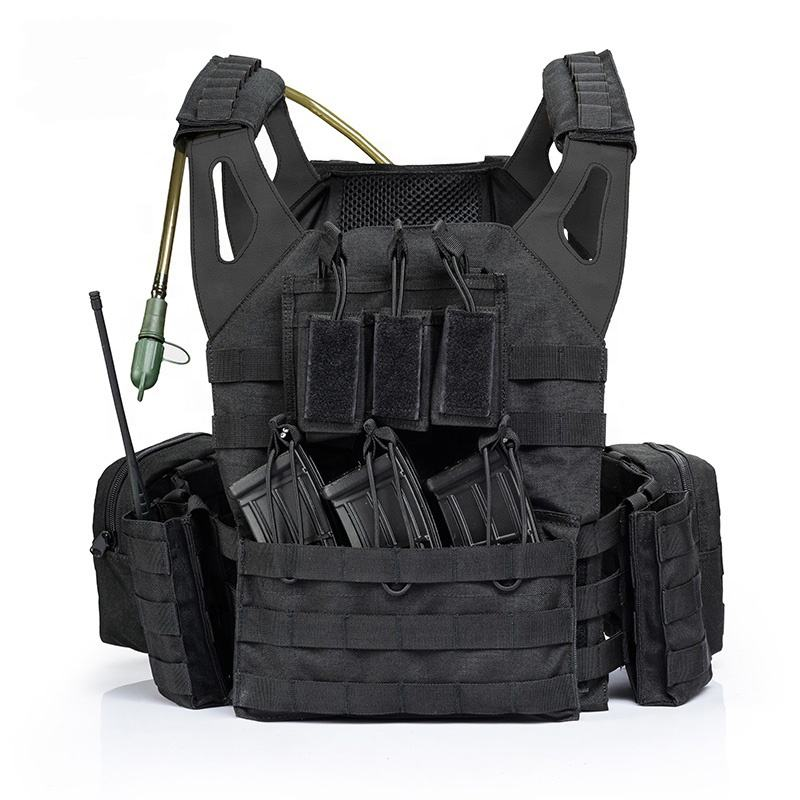 YAKEDA molle assault police swat army military combat training gilet bulletproof plate carrier tactical vest with water bag