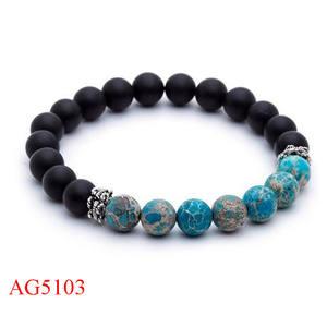 2016 новый дизайн браслеты из бисера браслет из нержавеющей стали Ocean голубые бусы, браслет