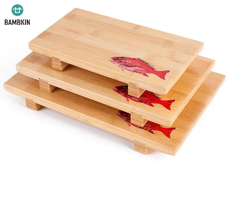 eco-friendly sushi plate serving tray /bamboo sushi plate