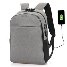 Smart Anti-theft Water proof Men's Business Laptop Anti theft usb Backpack Back Pack Bagpack Bag with USB Charging Port