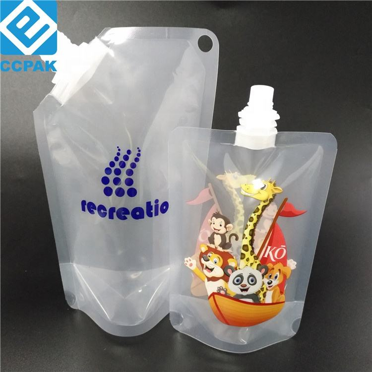 200ml Juice/Water/Drink Packing Side Spout Pouch Doypack Plastic Liquid Pouch With White Spout
