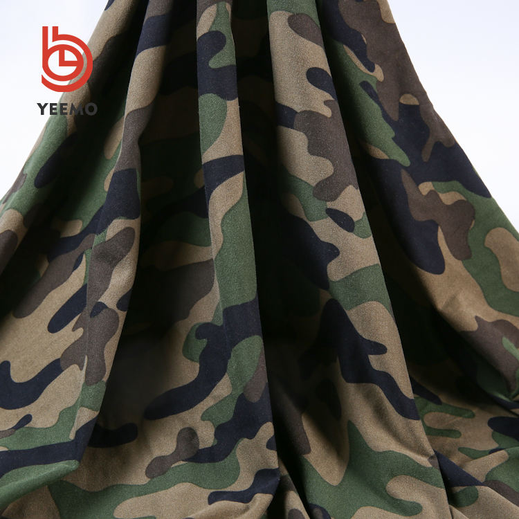 Free sample polyester spandex jersey fabric printed camouflage fabric wholesale