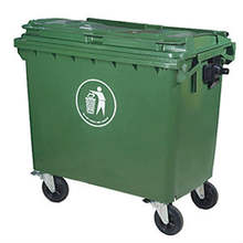 plastic indutry bin waste container garbage container 660L