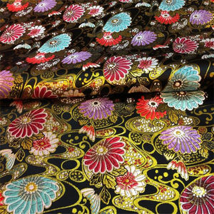 Hot selling Chinese Factory Japan Style Metallic Fabric Jacquard Brocade Fabric for Clothing