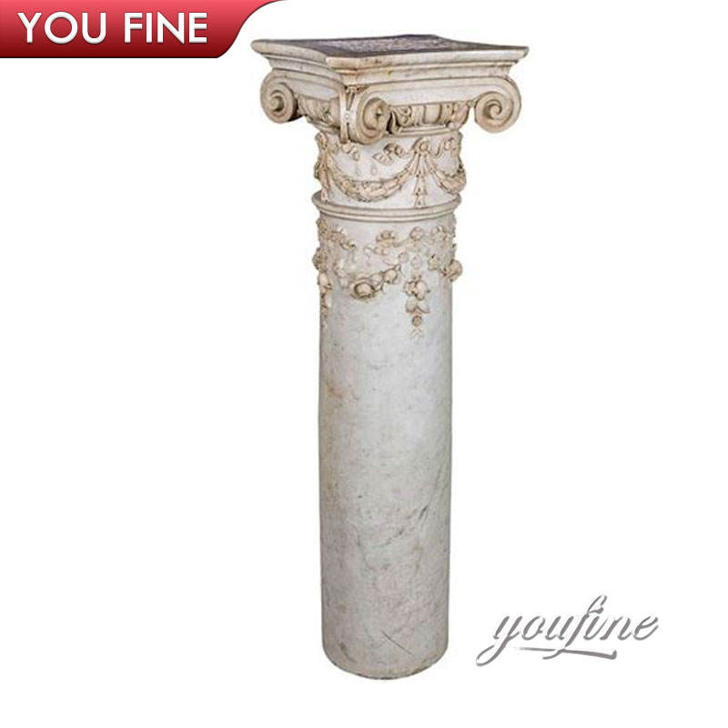 Solid Stone Column Capital Chinese Stone Column
