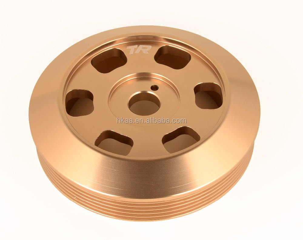 Chinese CNC turning lightweight brass crankshaft pulley for car
