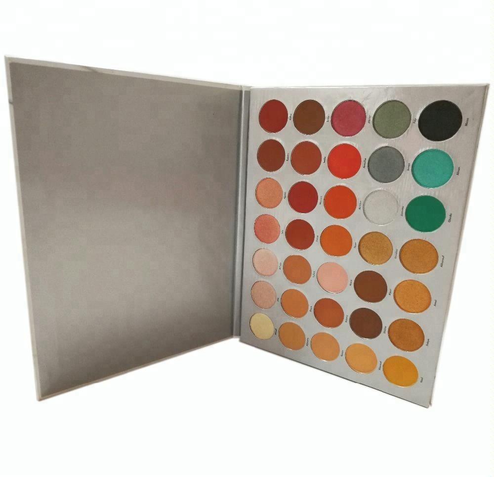 В наличии/OEM профессиональная палитра теней для век с 35 цветов