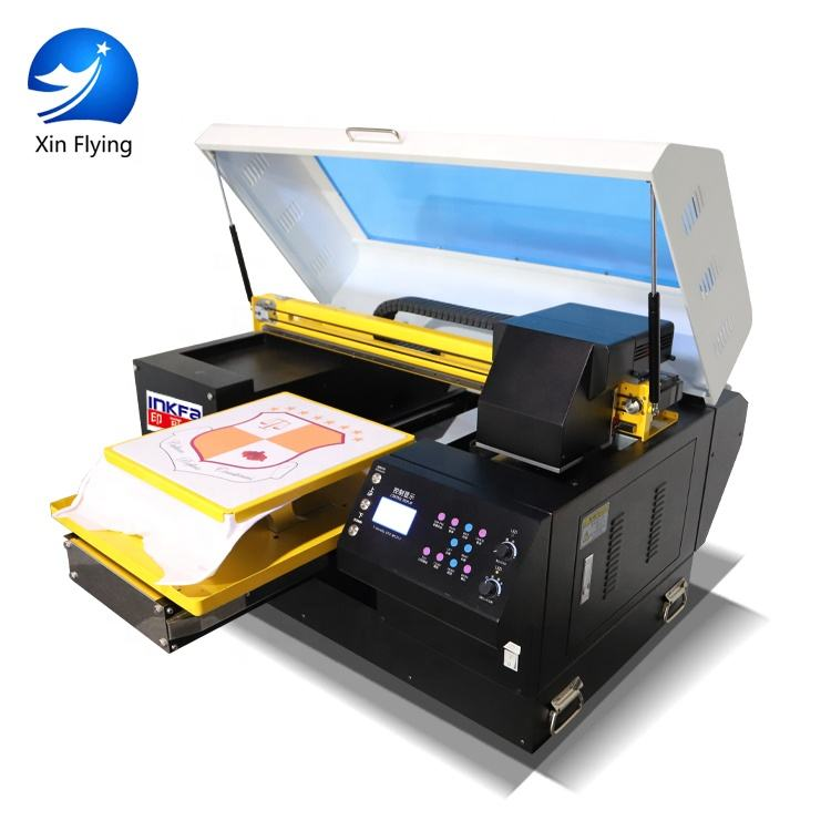 Inkfa double 5113 print heads wide format flatbed hot sale digital cheap direct cotton fabric textile cap t-shirt printer