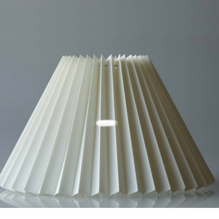 Conical Shape Cloth Lampshade Pure Color Pleated Lamp Shade For Table Lighting Lamps