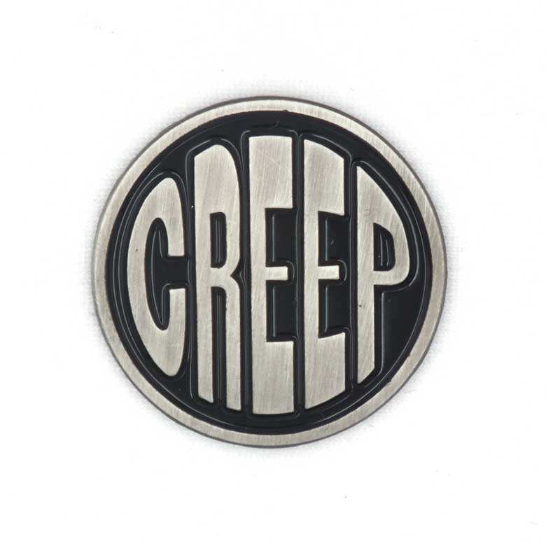 Wholesale custom antique silver plated creep metal soft enamel lapel pins for