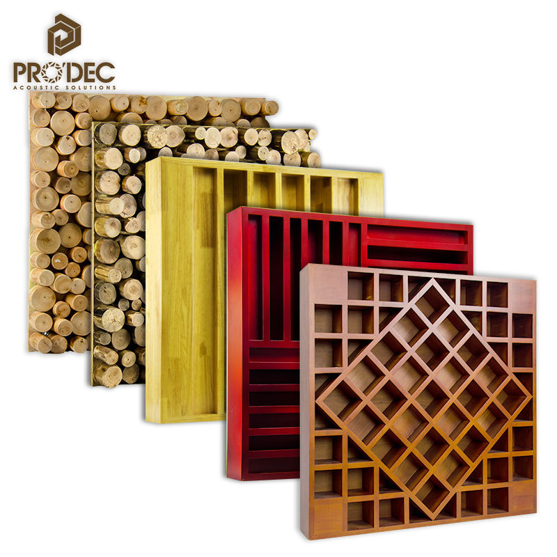3D High Density Laminated Decorative Wooden Sound Diffuser Panel Wall