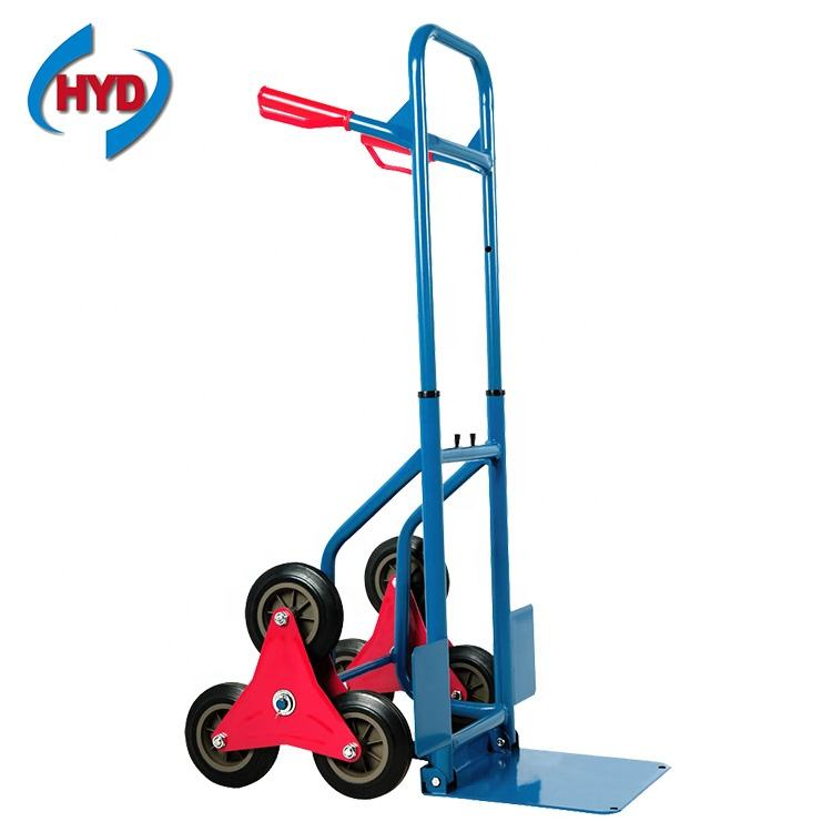 HT2086A convertible telescopic six wheel hand trolley for climbing stairs